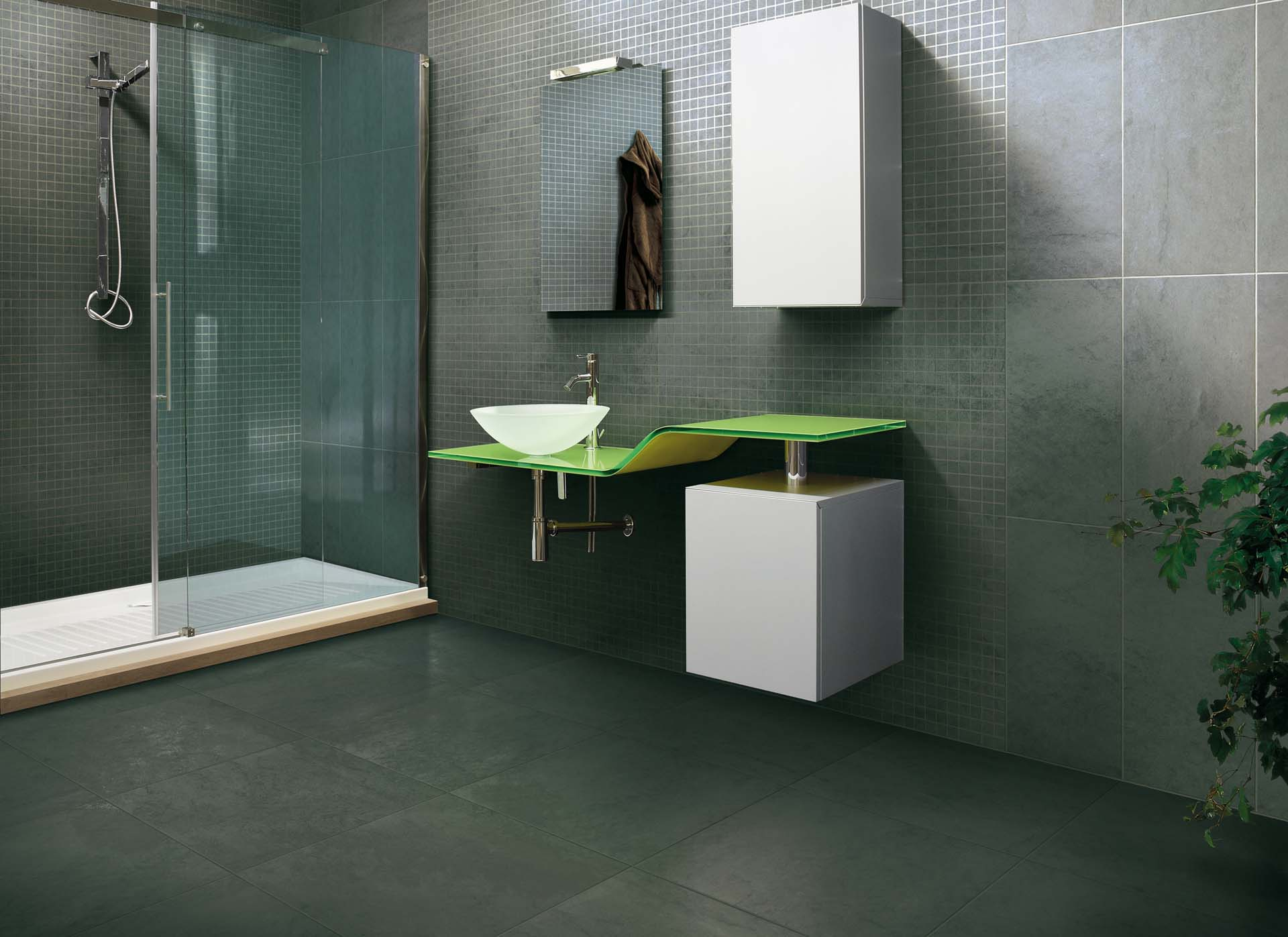 Badkamer betegelen uw douche laten tegelen van doesburg - Betegelen van natuurstenen badkamer ...